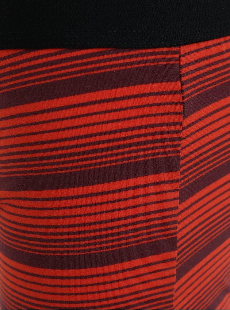 Sada tří pruhovaných boxerek v černé, modré a oranžové barvě Burton Menswear London