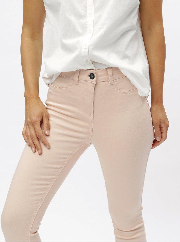 Světle růžové skinny džíny M&Co