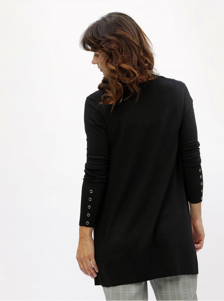 Černý kardigan s knoflíky na rukávech M&Co