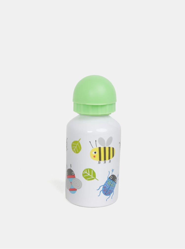 Zeleno-bílá lahev s motivy zvířátek Sass & Belle