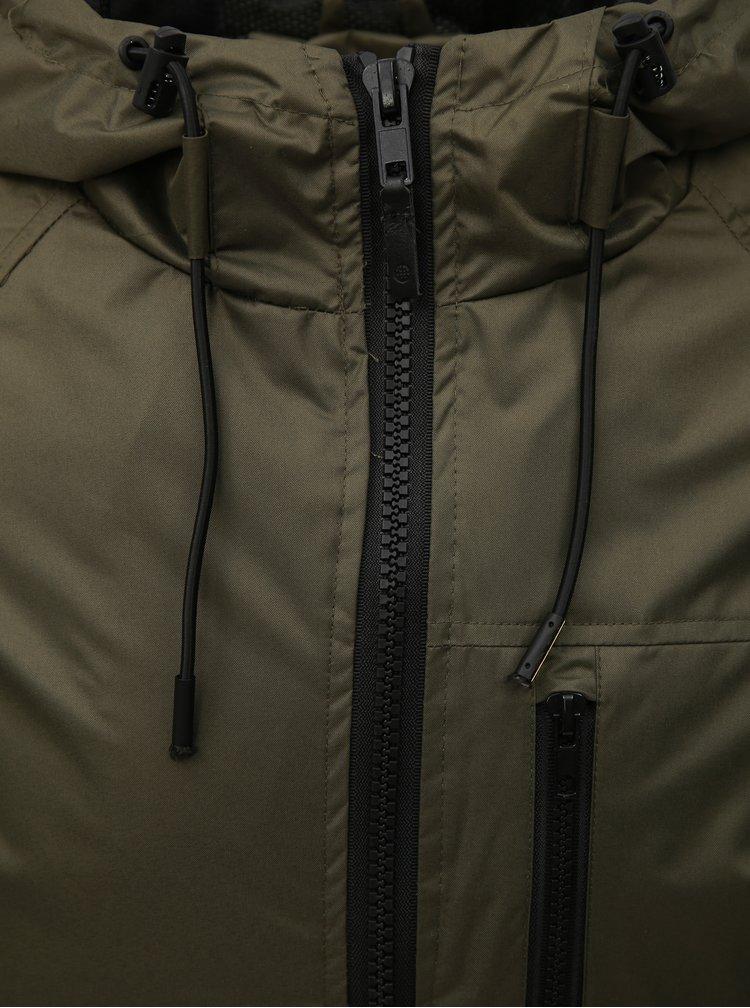 Khaki bunda s kapucí Blend