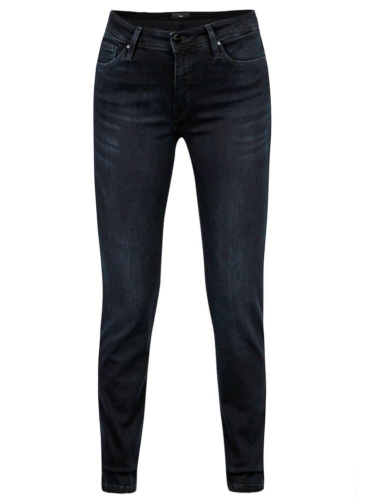Tmavě modré dámské slim fit džíny s vysokým pasem Cross Jeans