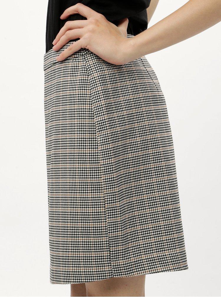 Šedá kostkovaná kostýmová pouzdrová sukně VERO MODA Kamma