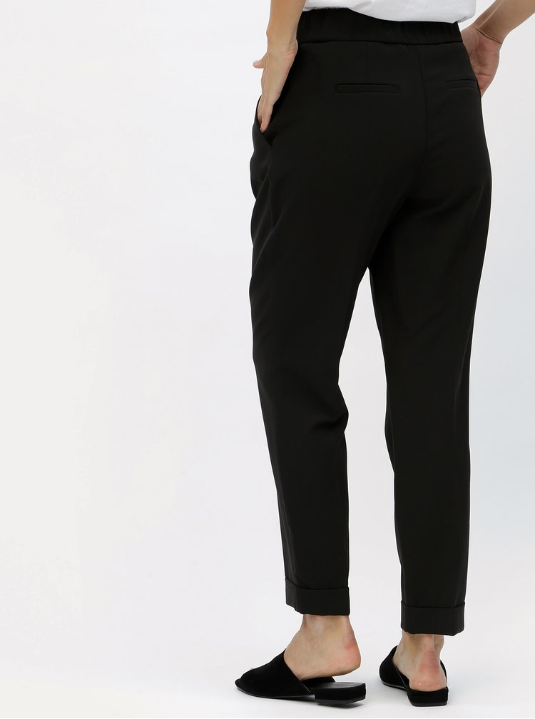 Černé kalhoty s vysokým pasem Dorothy Perkins