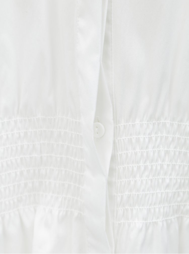 Camasa alba cu maneci 3/4 si talie elastica Selected Femme Camille