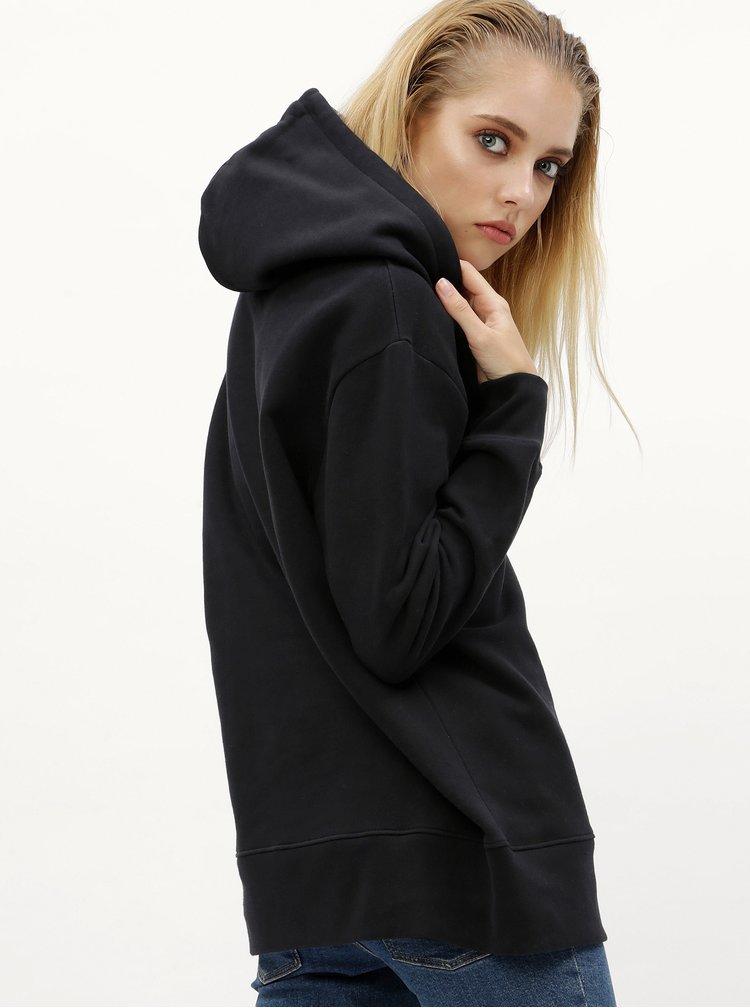 Černá dámská mikina s kapucí Calvin Klein Tanya