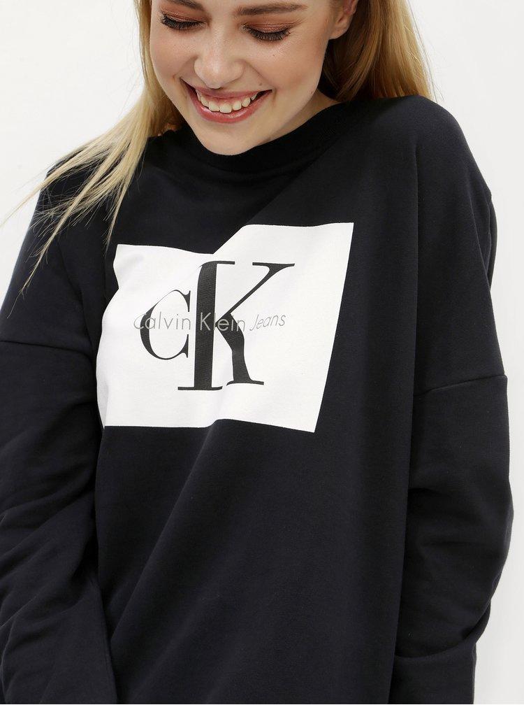 Černé mikinové šaty Calvin Klein Jeans Dena