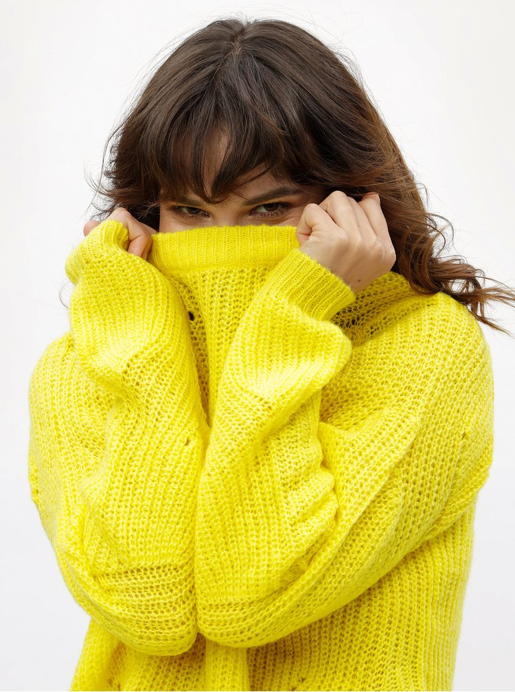 Pulover galben Jacqueline de Yong Daisy