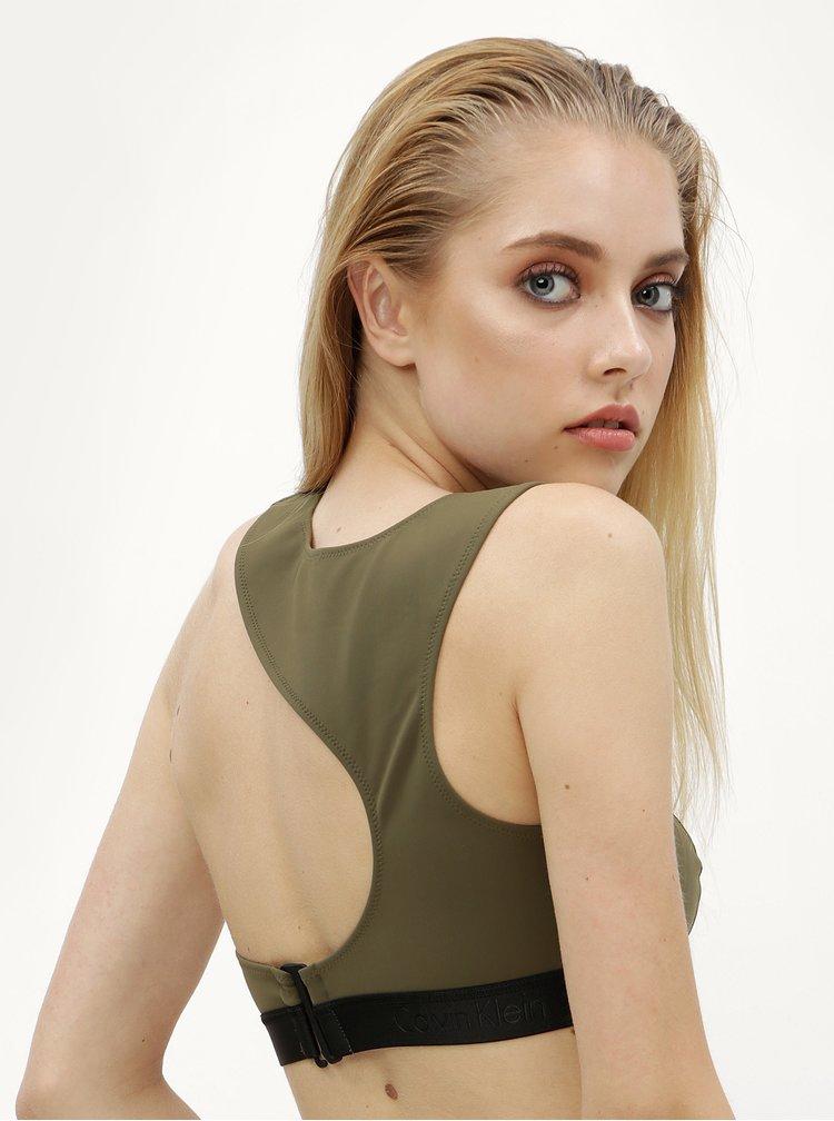 Zelený horní díl plavek Calvin Klein