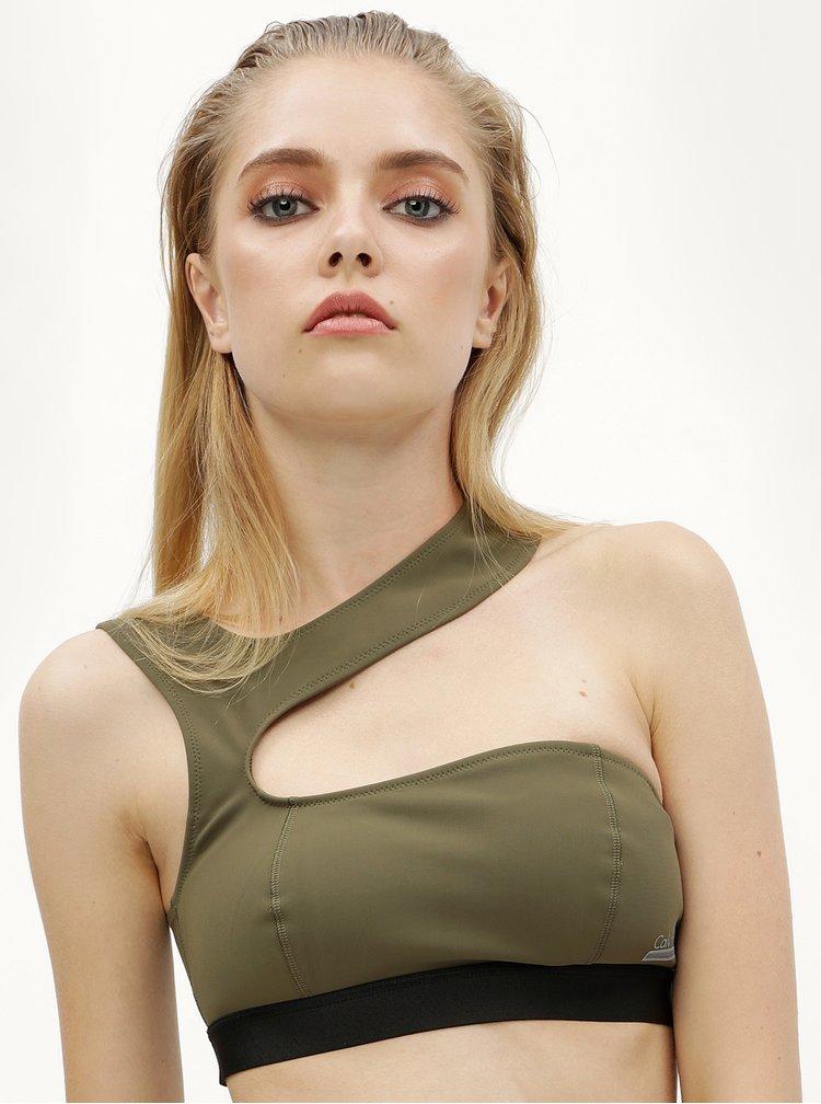 Tmavě zelený horní díl plavek Calvin Klein