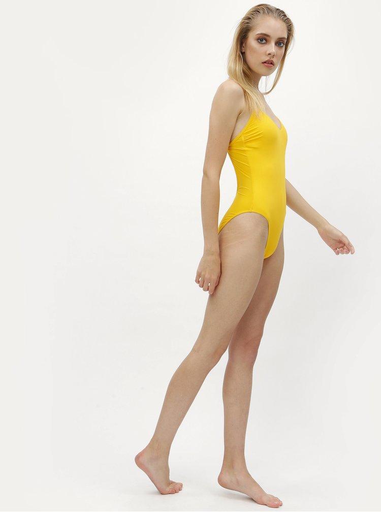 Žluté jednodílné plavky Calvin Klein Underwear