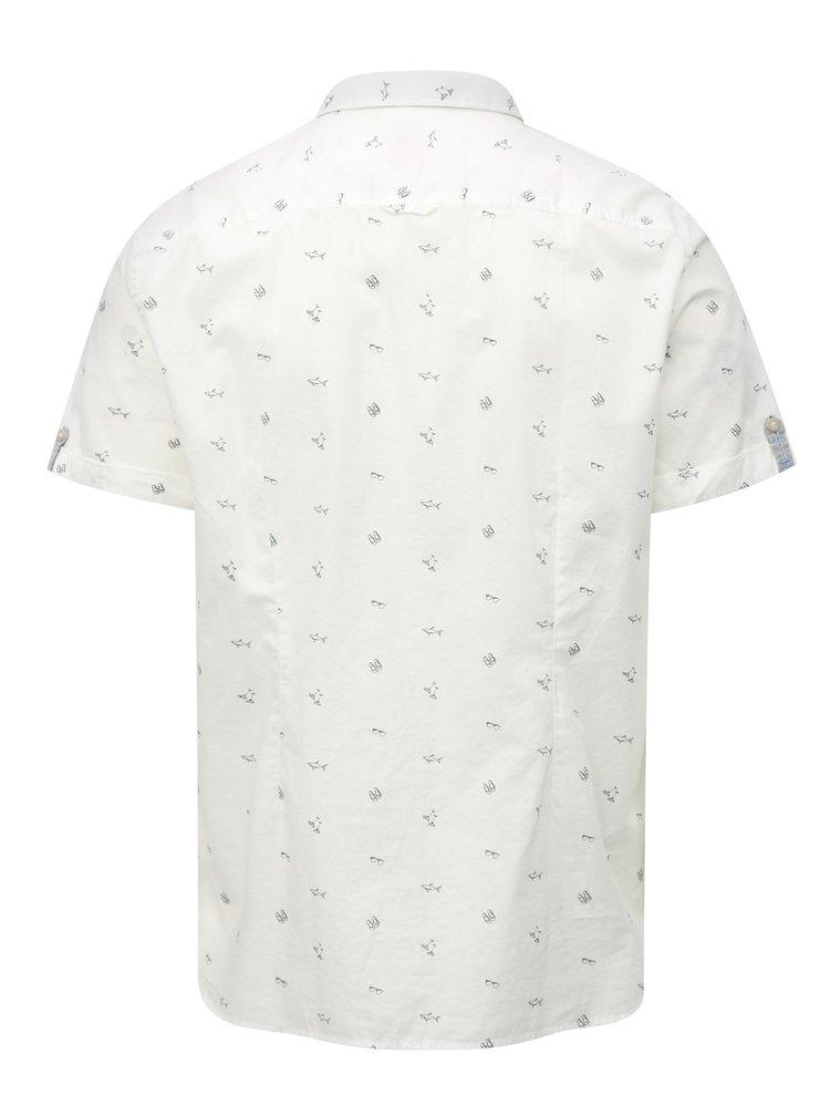 Bílá pánská slim vzorovaná košile s.Oliver