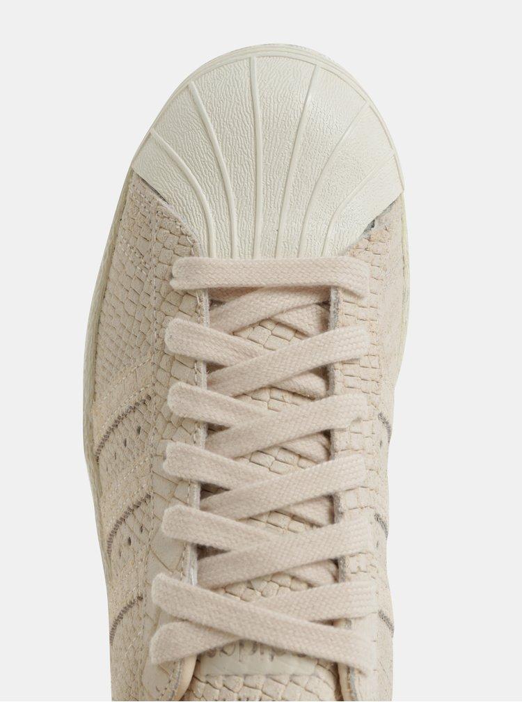 Světle růžové dámské kožené tenisky adidas Originals