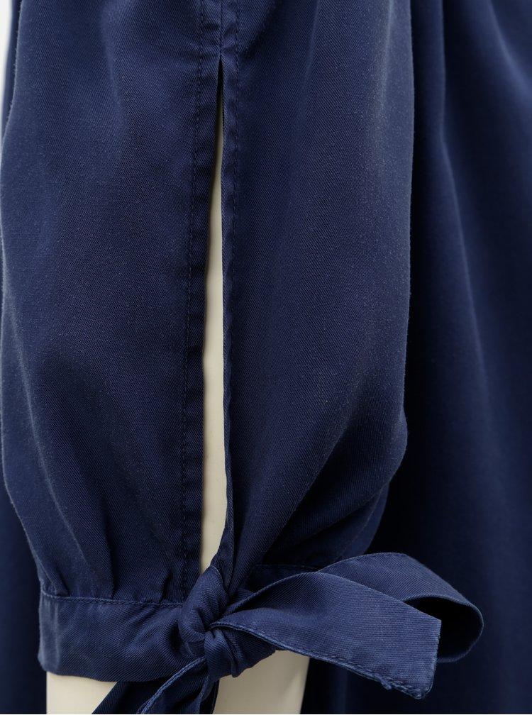 Tmavě modré šaty s odhalenými rameny s.Oliver