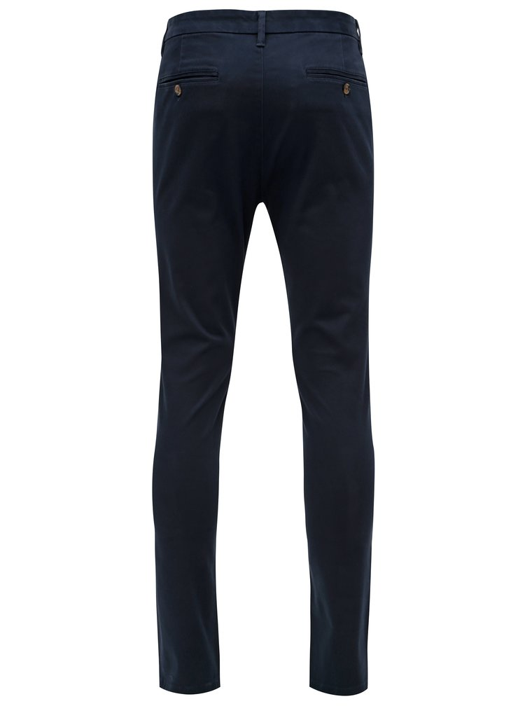Tmavě modré skinny chino kalhoty Burton Menswear London