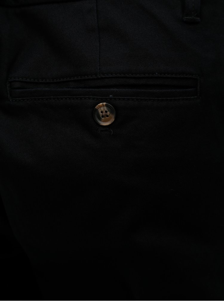 Černé straight chino kalhoty Burton Menswear London