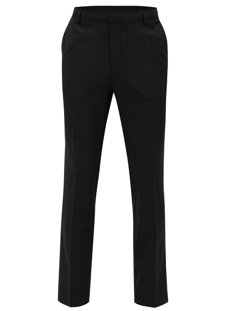Pantaloni formali gri inchis Burton Menswear London