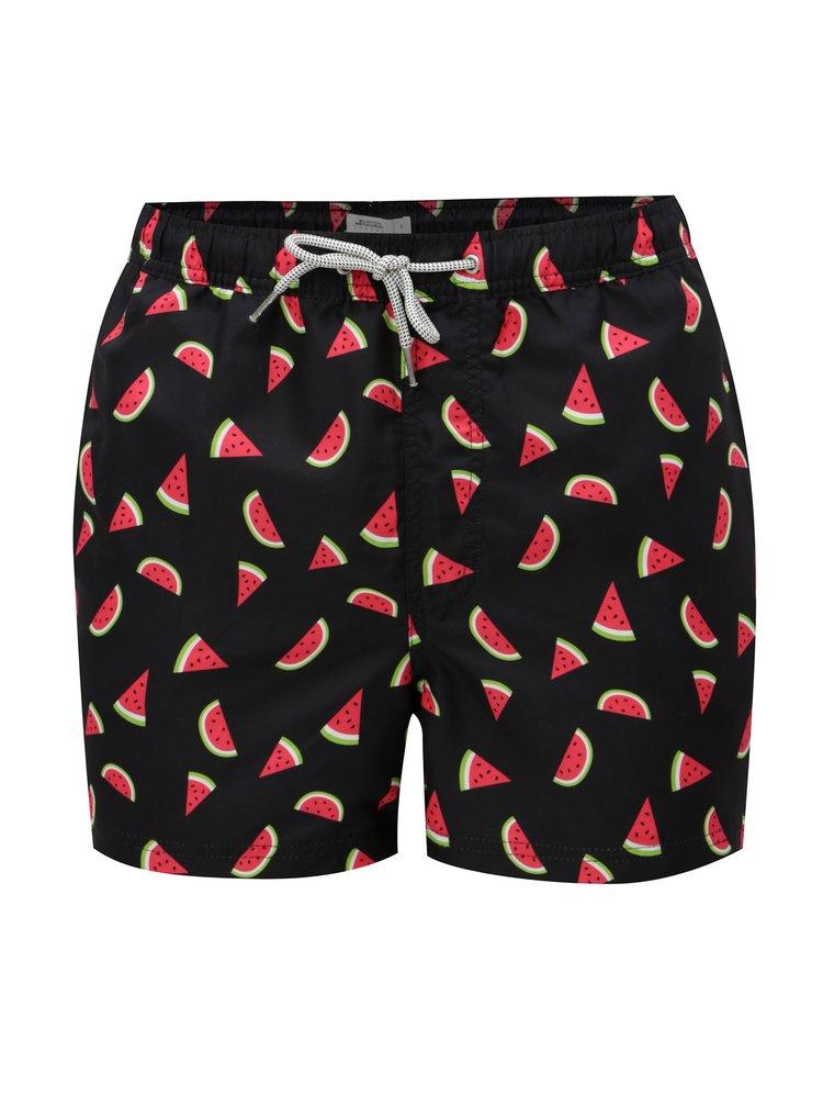 Černé plavky s motivem melounů Burton Menswear London