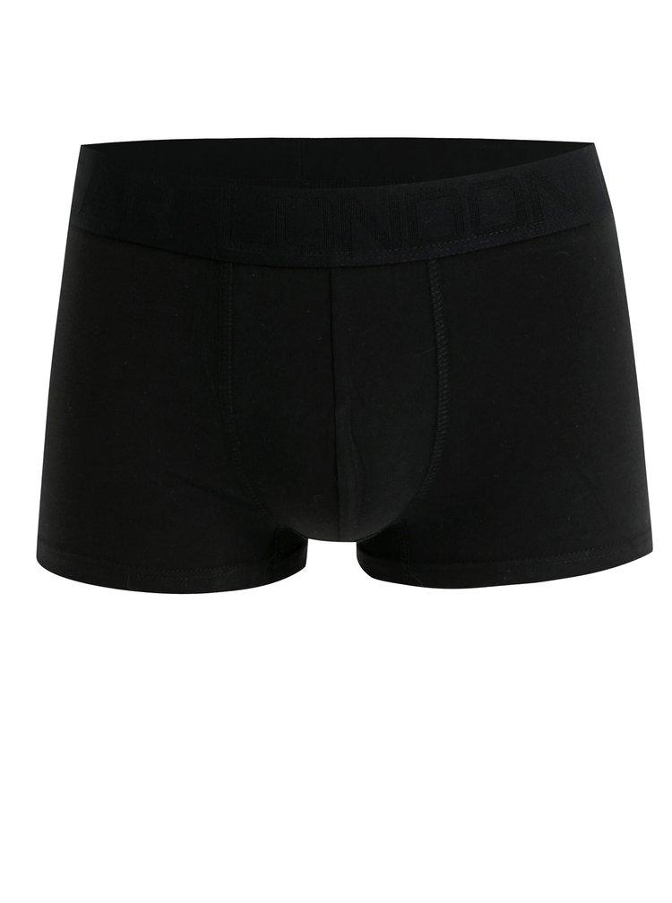 Sada tří boxerek v černé barvě s logem na gumě Burton Menswear London
