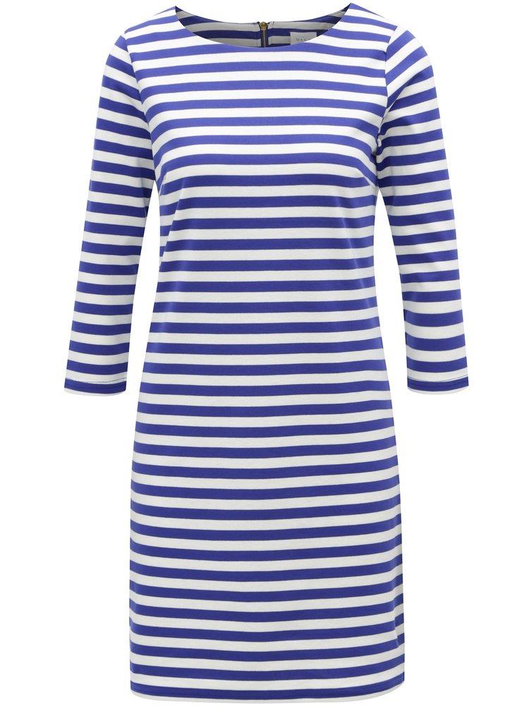 Krémovo-modré pruhované šaty VILA Vitinny