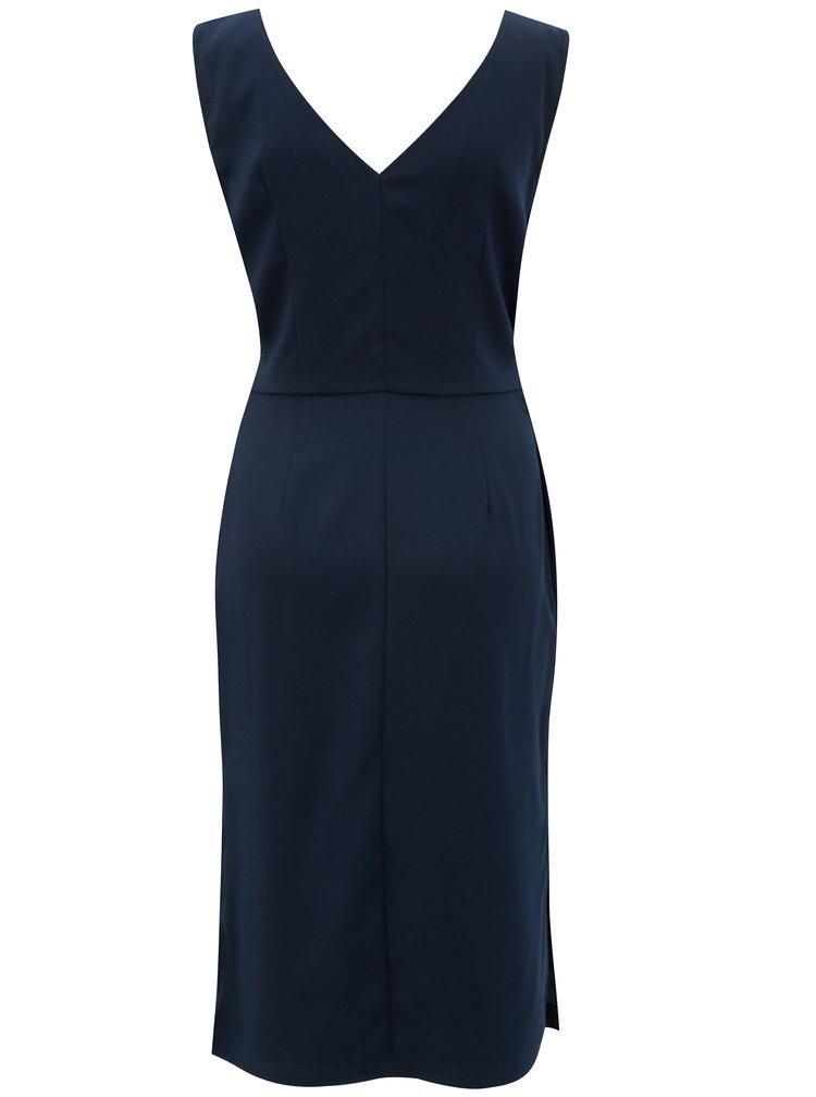 Modré šaty s páskem VILA Vimelis