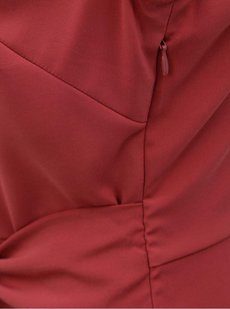 Rochie roz cu cordon in talie VILA Vimelis