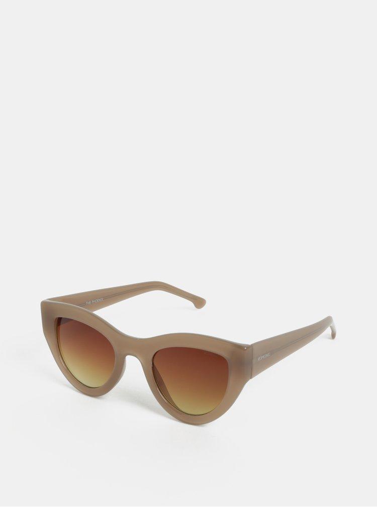 Béžové dámské sluneční brýle Komono Phoenix