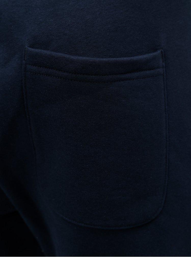 Tmavě modré tepláky s potiskem Jack & Jones