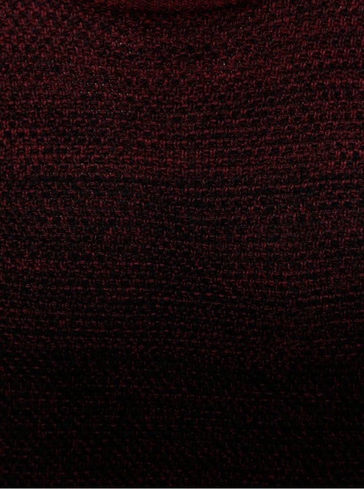Černo-vínový žíhaný svetr Jack & Jones