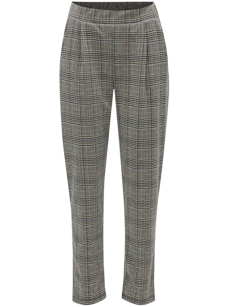 Pantaloni gri-negru cu model VERO MODA Blair