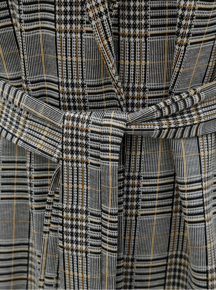 Šedo-černé vzorované sako s páskem VERO MODA Blair