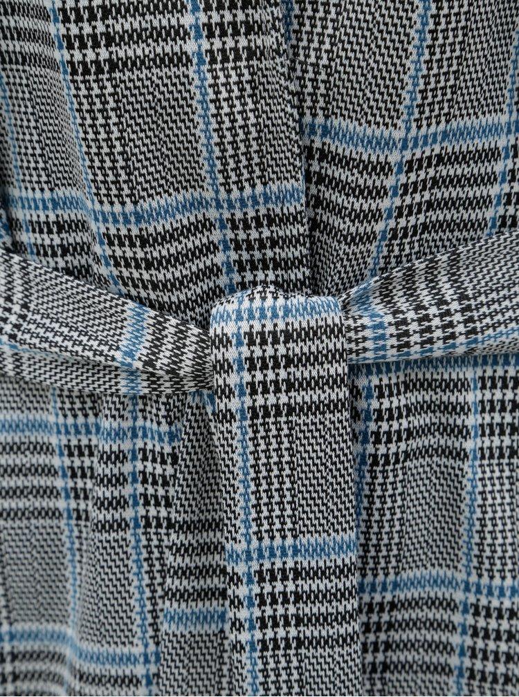 Modro-černé vzorované sako s páskem VERO MODA Blair