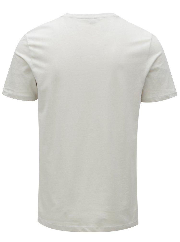 Svetlosivé tričko s farebnou potlačou Jack & Jones