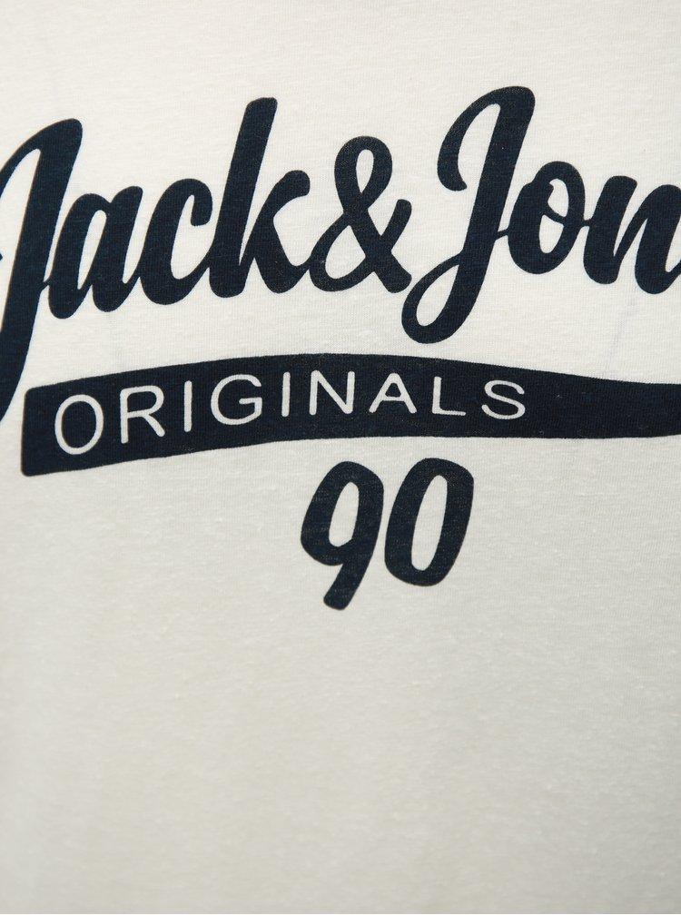 Bílé tričko s potiskem Jack & Jones
