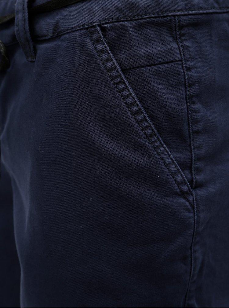 Tmavě modré dámské kraťasy se zavazováním Garcia Jeans