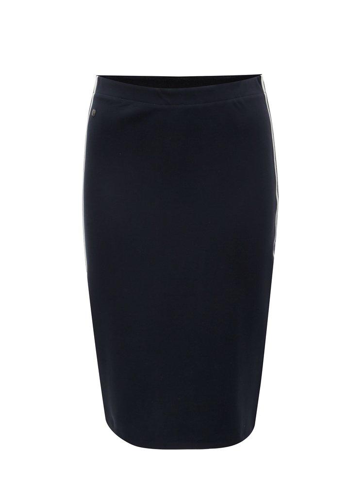 Tmavě modrá pouzdrová sukně s pruhy Garcia Jeans