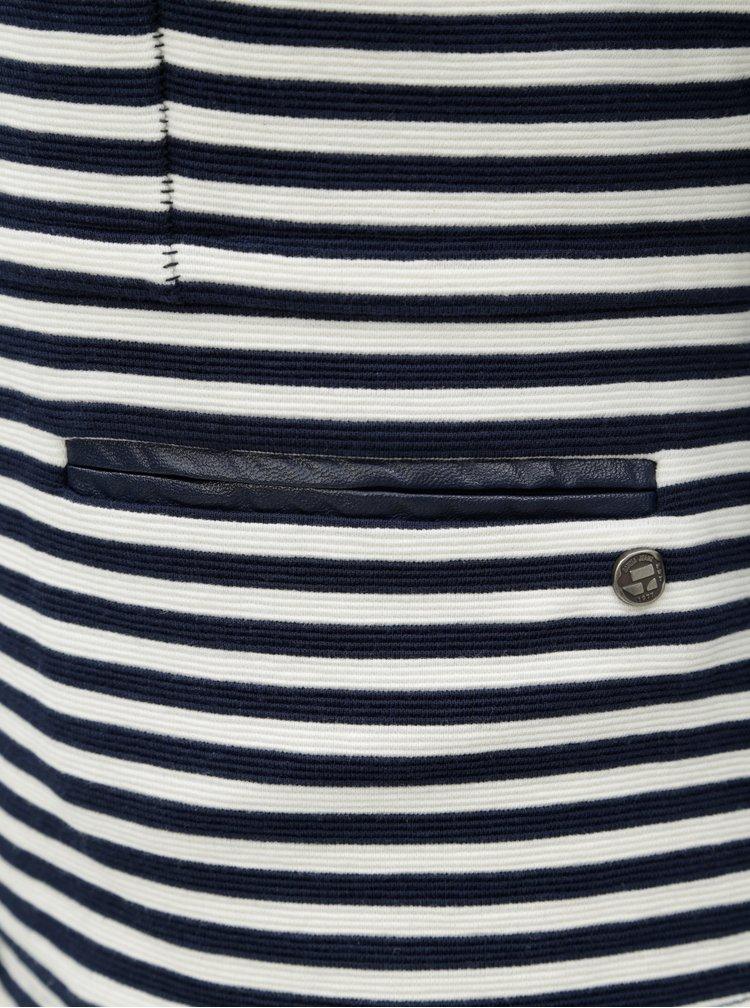 Bílo-modré dámské pruhované sako Garcia Jeans