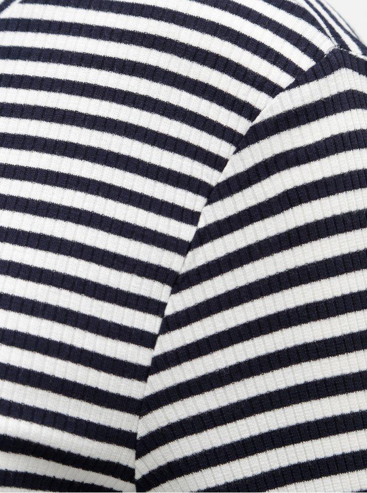 Tricou negru-alb in dungi cu maneci lungi Noisy May Melse