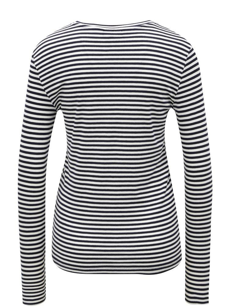 Černo-bílé pruhované tričko s dlouhým rukávem Noisy May Melse
