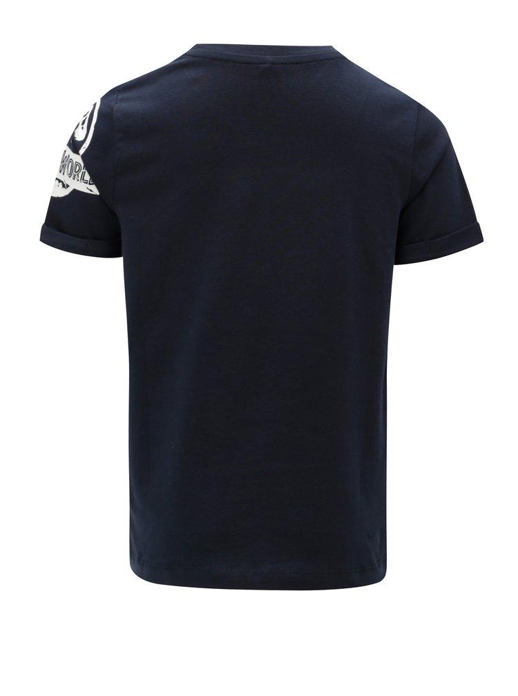 Modré dětské tričko s magickými flitry Name it Jurasic