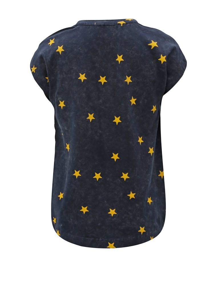Modré holčičí vzorované tričko Name it Fluvva
