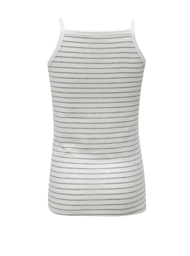 Súprava dvoch dievčenských tielok v bielej farbe Name it Strap