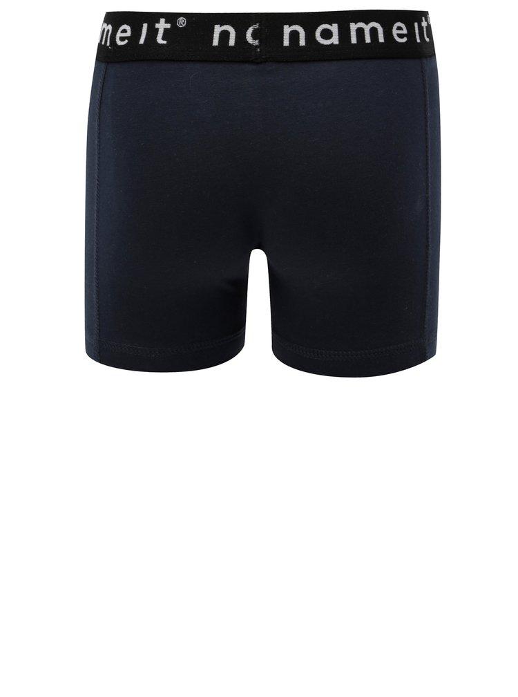 Sada dvou klučičích boxerek v modré a šedé barvě Name it Hipster
