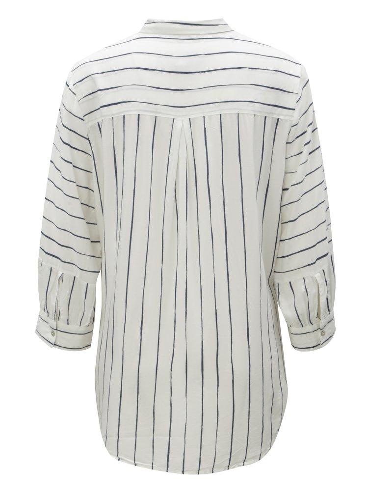 Bílá dámská pruhovaná košile s 3/4 rukávy Garcia Jeans