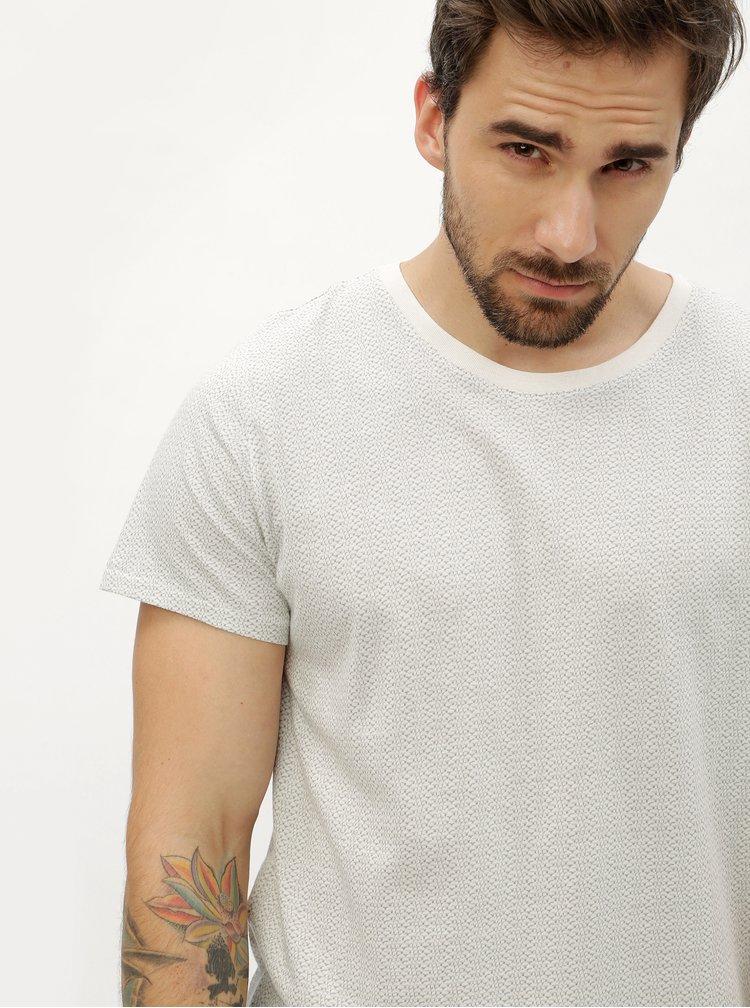 Krémové vzorované tričko s krátkým rukávem SUIT