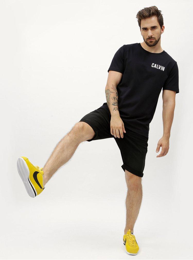 Černé pánské tričko s potiskem Calvin Klein Jeans Toreos