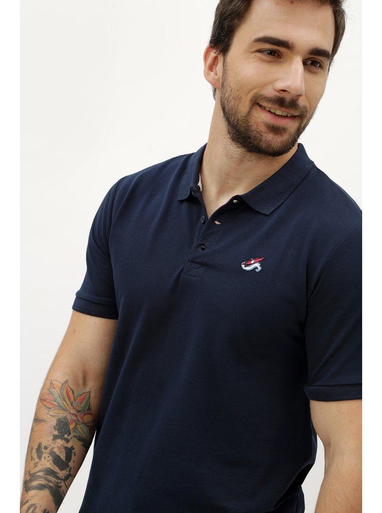 Tmavě modré polo tričko s výšivkou ONLY & SONS Delano