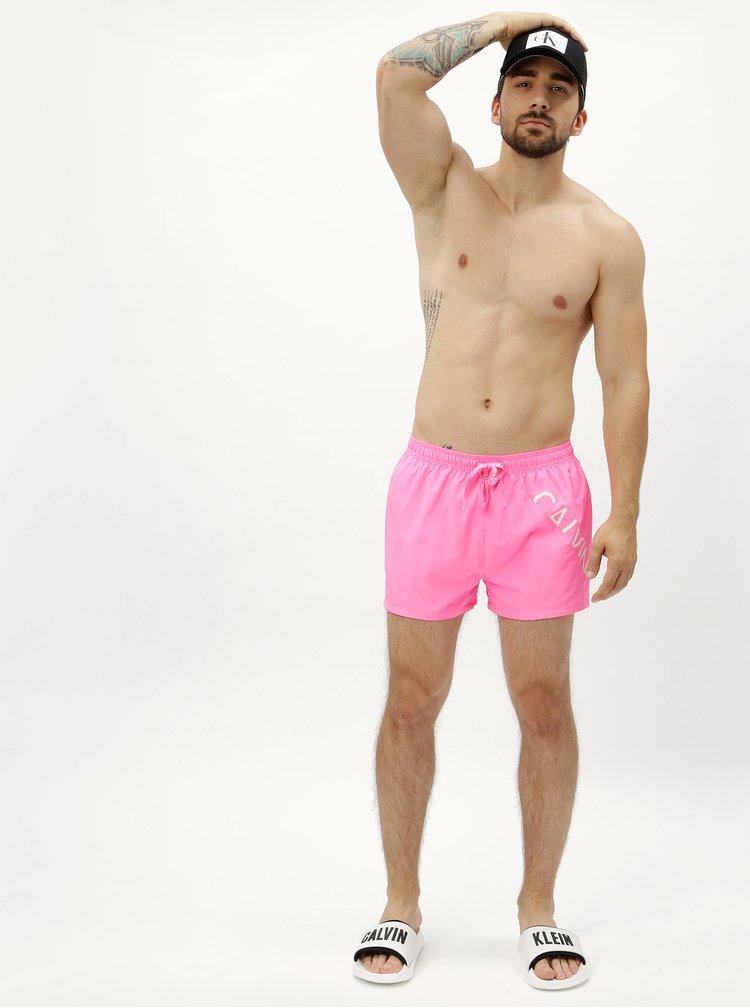 Růžové pánské plavky Calvin Klein Underwear