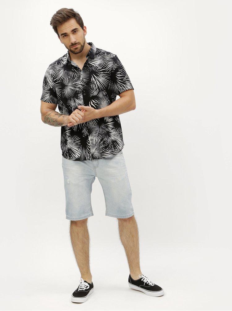 Bílo-černá vzorovaná košile Burton Menswear London