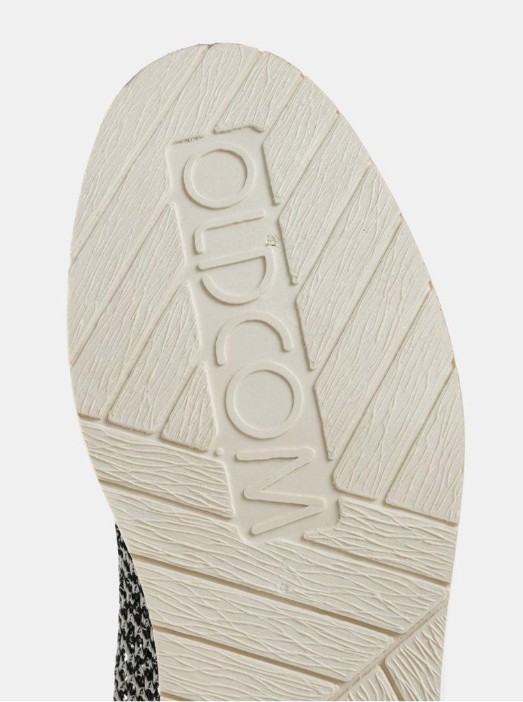 Bílo-modré pánské slip on s koženými detaily Oldcom Summer